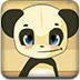 可爱熊猫取蜂蜜