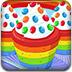 美味的彩虹纸杯蛋糕