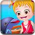 可爱宝贝海豚表演