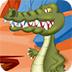 饥饿的鳄鱼逃脱