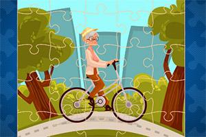 开心骑行拼图