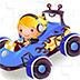 卡通小型赛车拼图